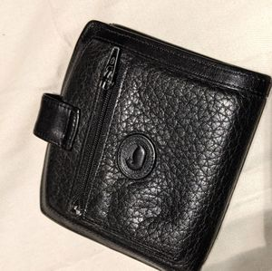 Black leather Dooney Bourke wallet